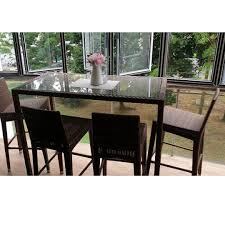 Outdoor, Patio, Balcony High Top Table And 4 High Chairs ... Kitchen Design Counter Height Ding Room Table Tall High Hightop Table With 4 Leather Chairs Top Hanover Monaco 7piece Alinum Outdoor Set Round Tiletop And Contoured Sling Swivel Chairs High Kitchen Set Replacement Scenic Top Wning Amazing For Sets Marble Square And Glass Small Pub Style Island Home Design Ideas Black Cocktail Low Tables Astonishing Rooms Modern Wood Dark 2