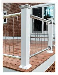 Vertical Cable Railing - Deck Railing | Mountain Laurel Handrails ... Stainless Steel Cable Railing Systems Types Stairs And Decks With Wire Cable Railings Railing Is A Deco Steel Guardrail Deck Settings And Stalling Post Fascia Mount Terminal For Balconies Decorations Diy Indoor In Mill Valley California Keuka Stair Ideas Best 25 Ideas On Pinterest Stair Alinum Direct Square Stainless Posts Handrail 65 Best Stairways Images Staircase