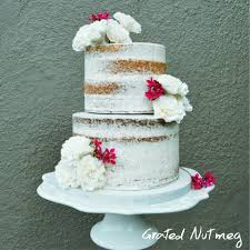 Naked Wedding Cake Grated Nutmeg