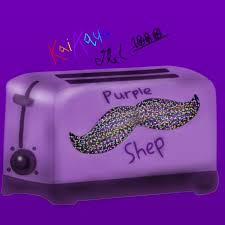 ToasterHeadNation Toaster With A Holo Mustache Purpleshep Purple