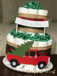100 Truck Wedding Cake Holiday Diaper Burlap Red Green Christmas Tree Etsy