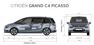 dimension coffre c4 picasso citroën c4 picasso choisir