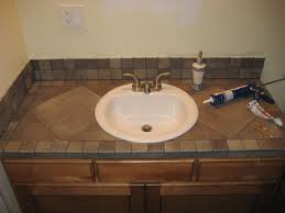 Bathroom Countertop Materials Pros And Cons by 27 Best Tile Countertops Images On Pinterest Tile Countertops