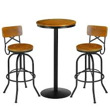 Amazon.com: VILAVITA 3 Piece Bar Table Set 41.5