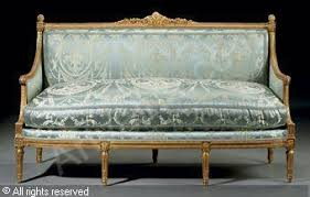 canape louis xvi a louis xvi gilt walnut canape sold by christie s york on