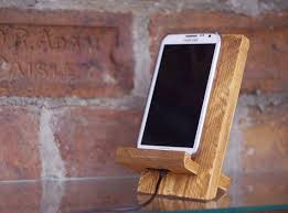 Phone Dock Wooden Stand Docking Station Charging Iphone