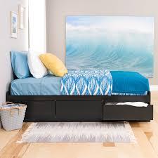 Simple Platform Bed With Drawers by Prepac Basic Storage Platform Bed Hayneedle