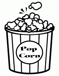 Printable Popcorn Coloring Pages And New