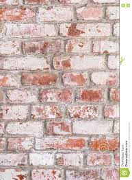 Texture Of Old Rustic Brick Wall Painted With White