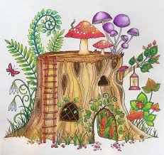 Enchanted Forest Tronco Floresta Encantada Johanna Basford Coloring BookTree