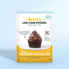 Low Carb Gluten Free Chocolate Cupcake Mix By Annas Kitchen Front