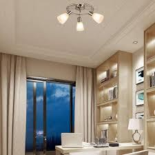 costway led deckenleuchte drehbar 3 flammig deckenle schwenkbar leuchten decken strahler fuer schlafzimmer wohnzimmer 9w e14