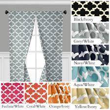 Moroccan Lattice Curtain Panels by Quatrefoil Curtains Lattice Trellis Window Treatments Navy