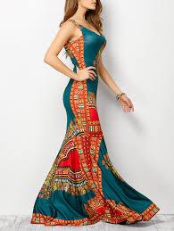 tribe print bohemian tank dress in lake blue xl sammydress com