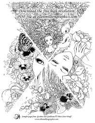 Gardens And Goddesses Free Coloring PagesColoring