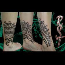 Polynesian Ankle Tattoo 5
