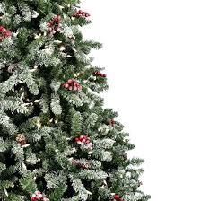 Flocked Christmas Tree Pre Lit Alaskan