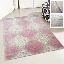 teppich wohnzimmer acrylteppich rosa pink versace design