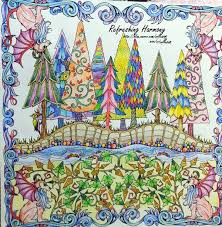 Johanna Basford Coloring Book Enchanted Forest An Inky Quest For Children Adult Relieve Stress Kill Time Graffiti