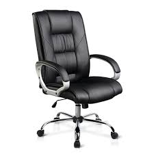 Executive PU Leather Office Computer Chair - Black #2 Luxury Pu Leather Executive Swivel Computer Chair Office Desk With Latch Recline Mechanism Brown Eliza Tinsley Black Belleze Highback Ergonomic Padded Arms Mocha Barton Economy Hydraulic Lift Senarai Harga Style Lifted Household Multi Heavy Duty Task Big And Tall Details About Rolling High Back Essentials Officecomputer Belleze Tilt Lumber Support Faux For Look Costway