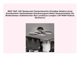 best buy led restaurant deckenleuchte dimmbar modern acryl