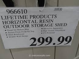 Suncast Horizontal Utility Shed by Lifetime Storage Sheds Costco Blue Carrot Com
