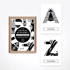 Black White Alphabet Flash Cards By The Jam Tart