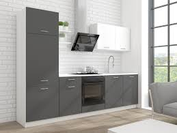 küchenleerblock promo 270 cm weiss grau