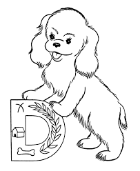 Full Image For Dog Color Pages Printable Coloring Sheets Abc Animal Page