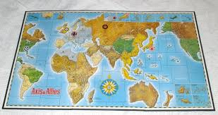 Axis And Allies Strategy Game By Milton Bradley 2nd Ed 1986