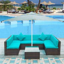 Ebay Patio Furniture Sectional by Merax 4 Pc Patio Rattan Wicker Chair Sofa Table Set Outdoor Garden