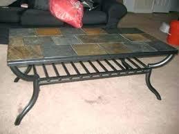 slate tile coffee table ideal for home decor slate tile end table