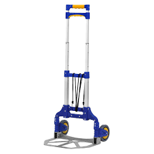 TROLLEY BLUE) Finether Multi-Purpose Height-Adjustable Aluminum ...