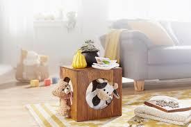beistelltisch mumbai massivholz sheesham 35x35 cm cube wohnzimmer tisch design landhaus stil couchtisch quadratisch