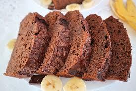 schoko bananen kuchen rezept für saftigen schokokuchen mit bananen