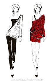 Dress Sketch Fashion Design Pinterest