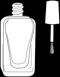 nail polish bottle black and white clip art at clker vector clip 7HCHP2 clipart
