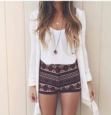 Mcl6k9 L 610x610 Shorts Short High Waisted Aztec Summer Outfits Outfit Idea Tumblr Fashion Vibe Pants