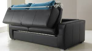 canapé noir et blanc convertible canapé convertible en cuir 3 places lit 140 cm promo usine