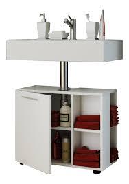 vcm bad unterschrank waschtisch waschbeckenunterschrank badunterschrank schrank möbel clevaso 50 x 60 x 29 cm badezimmer regal weiß holz