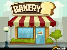 Bakery building cartoon ""