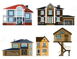 Images Front Views Of Houses by Houses Front View Vector Illustration Building Architecture Home