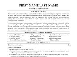 Resume Template For Real Estate Agents Agent Templates Downloadable