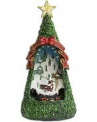 13 LED Animated Village Scene Tabletop Christmas Tree