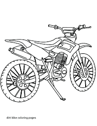 Dirt Bike Coloring Pages Bicycle How To Draw