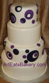 Modern Creative Round Brown Wedding Cake With Fondant Cascading Autumn Leaves