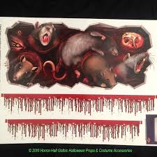 Halloween Scene Setters 2017 by Giant Morgue Bloody Wall Roll Horror Csi Scene Setter Decoration