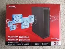 toshiba canvio 3tb desktop external hard drive black ebay