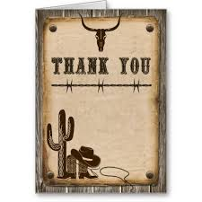 Wood Wedding Thank You Cards Rustic Wooden Western Style Card