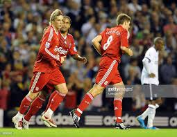 100 Torres Villa Fernando Scores A Goal For Liverpool During The Barclays